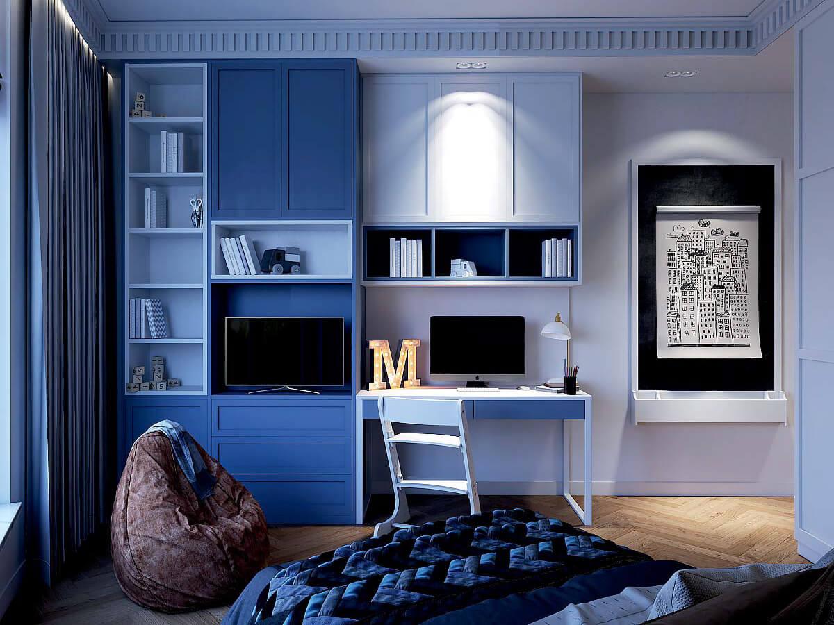 Мебель детской комнаты для мальчика 7-10 лет проект 3881-4