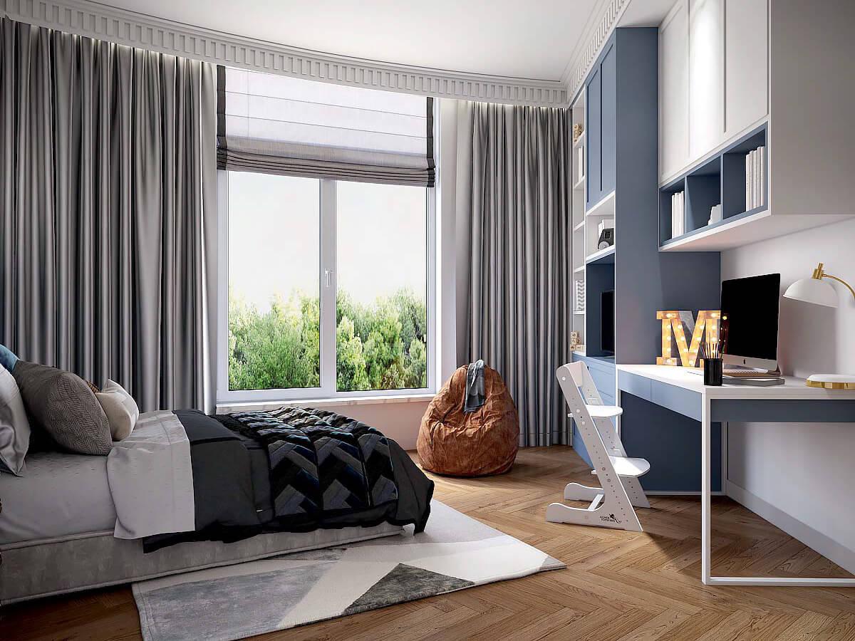 Мебель детской комнаты для мальчика 7-10 лет проект 3881-5