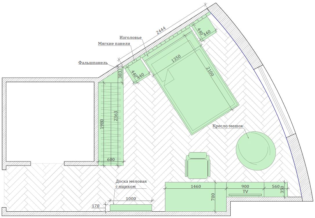 Мебель детской комнаты для мальчика 7-10 лет проект 3881-6