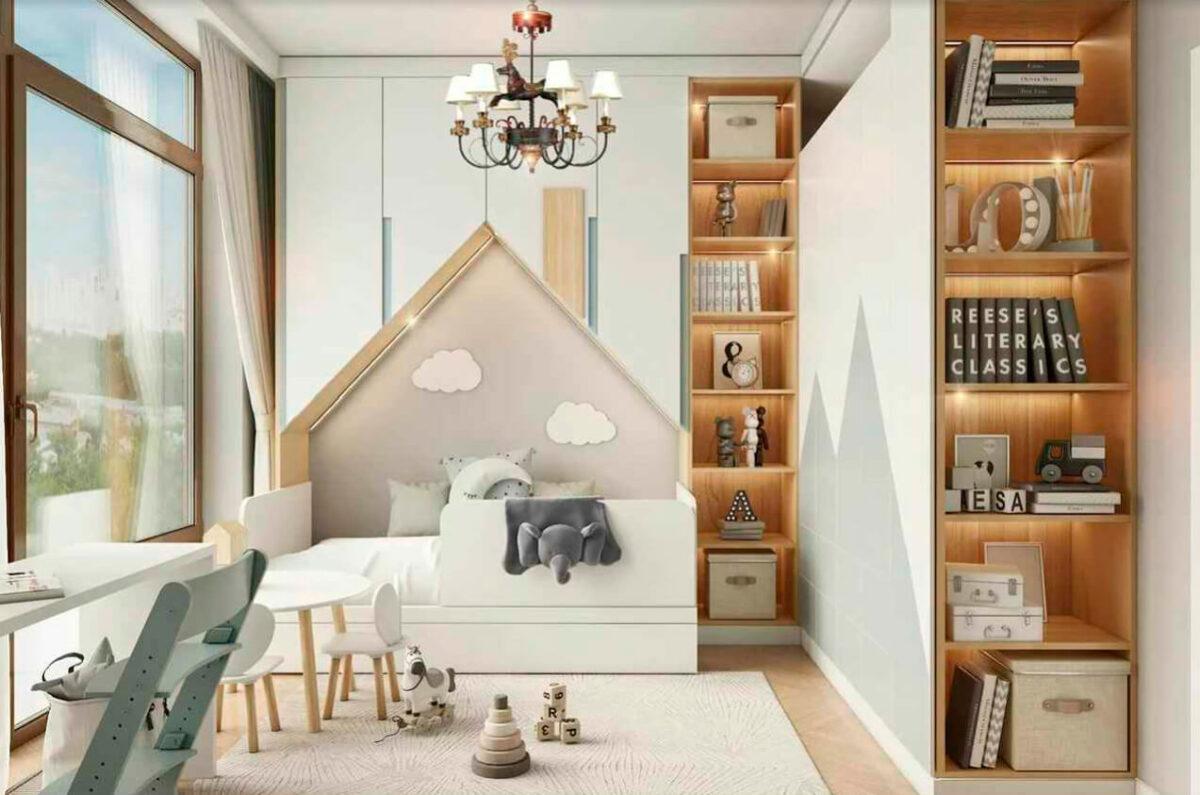 Мебель детской комнаты мальчика 1-7 лет проект 4839-1