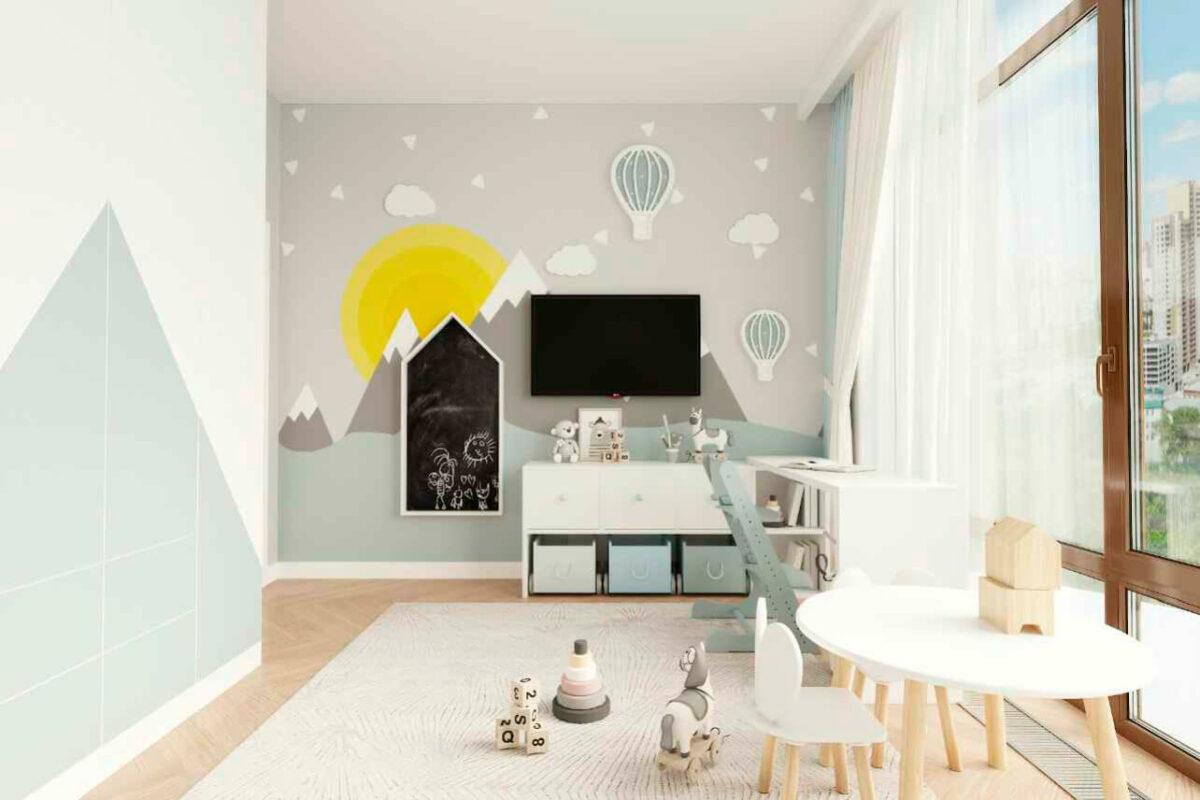Мебель детской комнаты мальчика 1-7 лет проект 4839-2