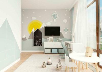 Мебель белого цвета в детскую комнату мальчика 1-7 лет — проект 4839
