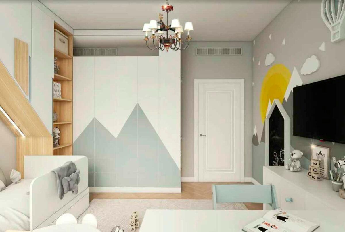 Мебель детской комнаты мальчика 1-7 лет проект 4839-3