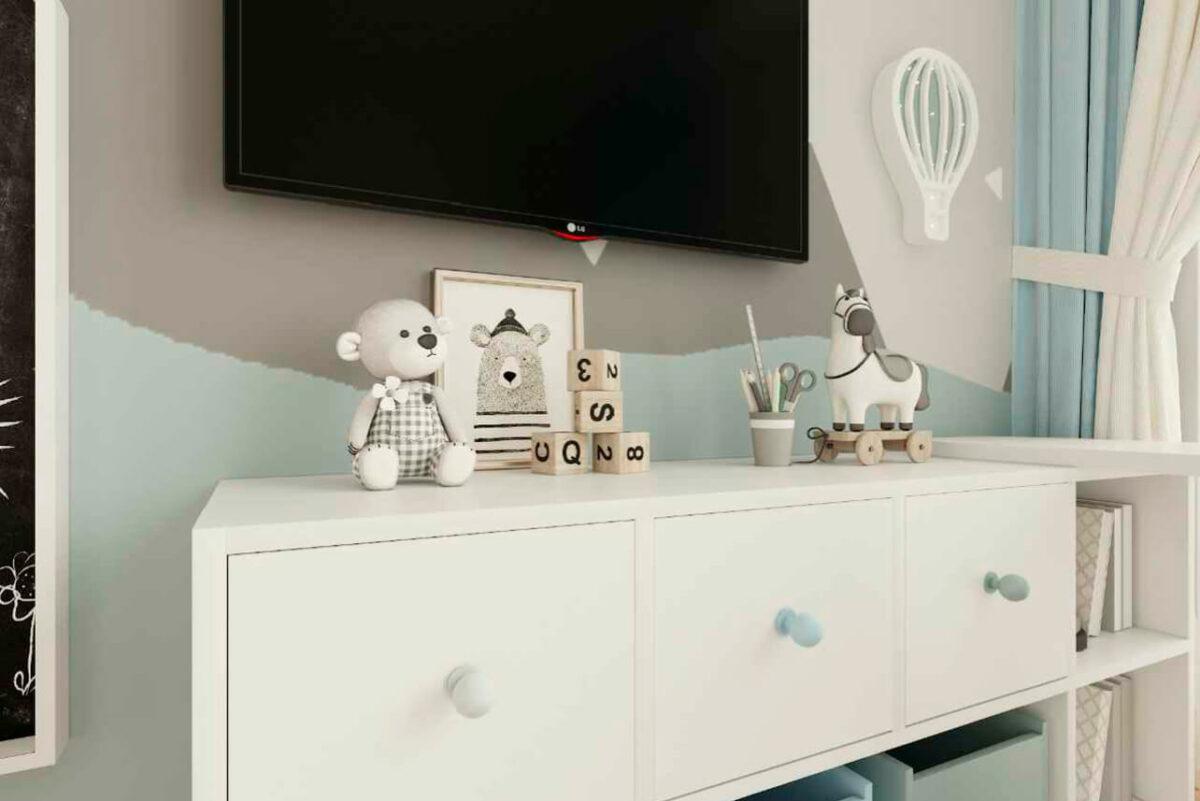 Мебель детской комнаты мальчика 1-7 лет проект 4839-4