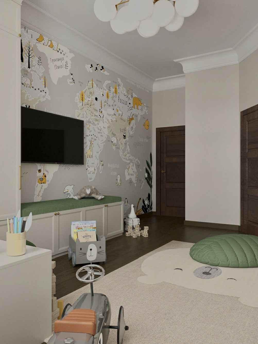 Мебель детской комнаты мальчика 3-10 лет проект 5097-1