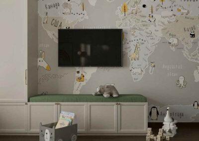 Мебель детской комнаты для мальчика 3-10 лет — проект 5097