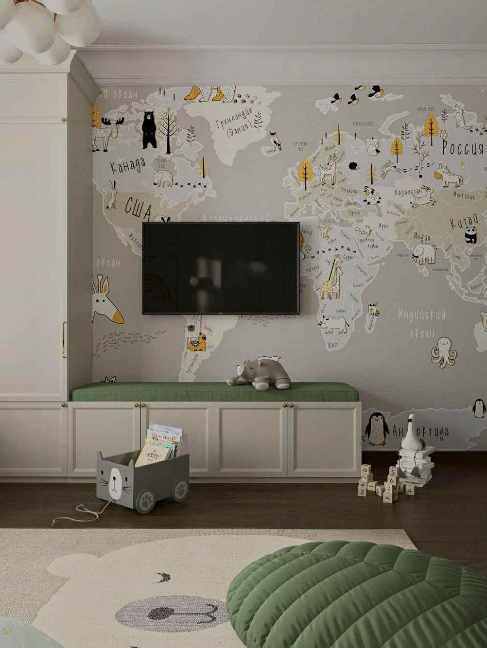 Мебель детской комнаты мальчика 3-10 лет проект 5097-4