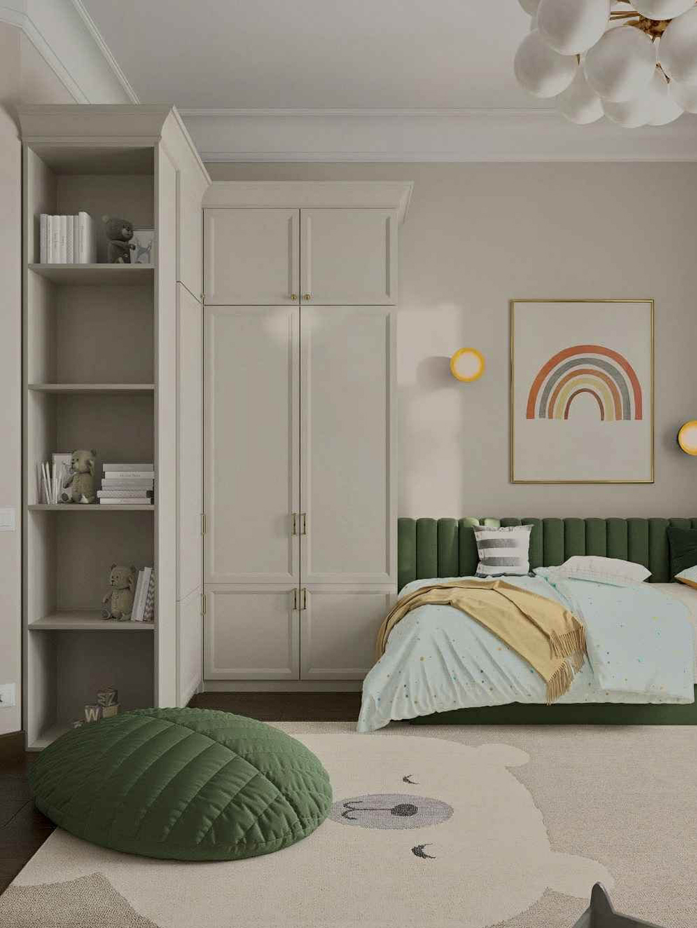 Мебель детской комнаты мальчика 3-10 лет проект 5097-5