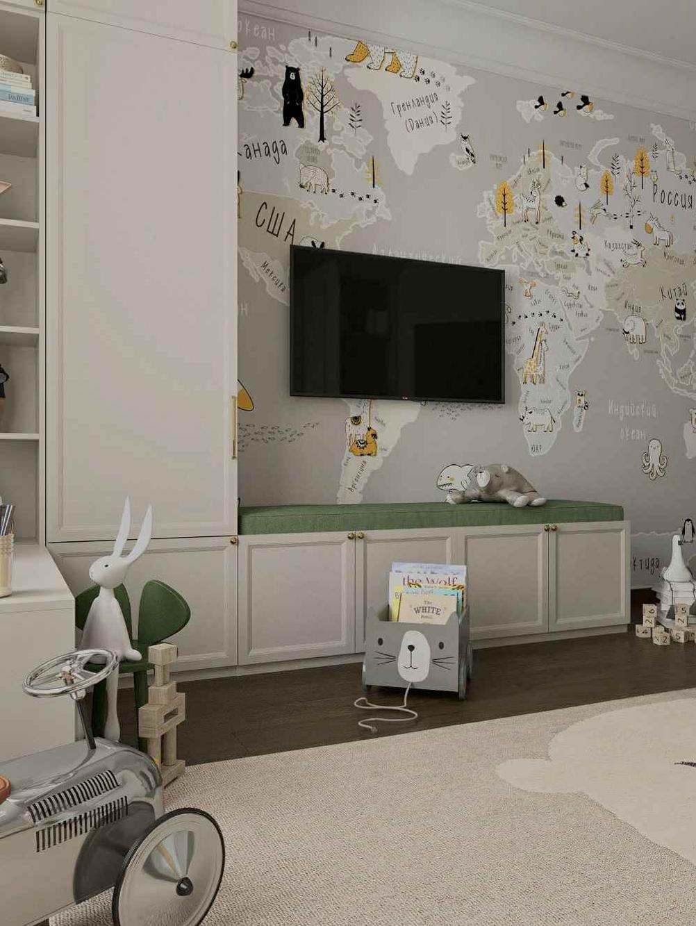 Мебель детской комнаты мальчика 3-10 лет проект 5097-7