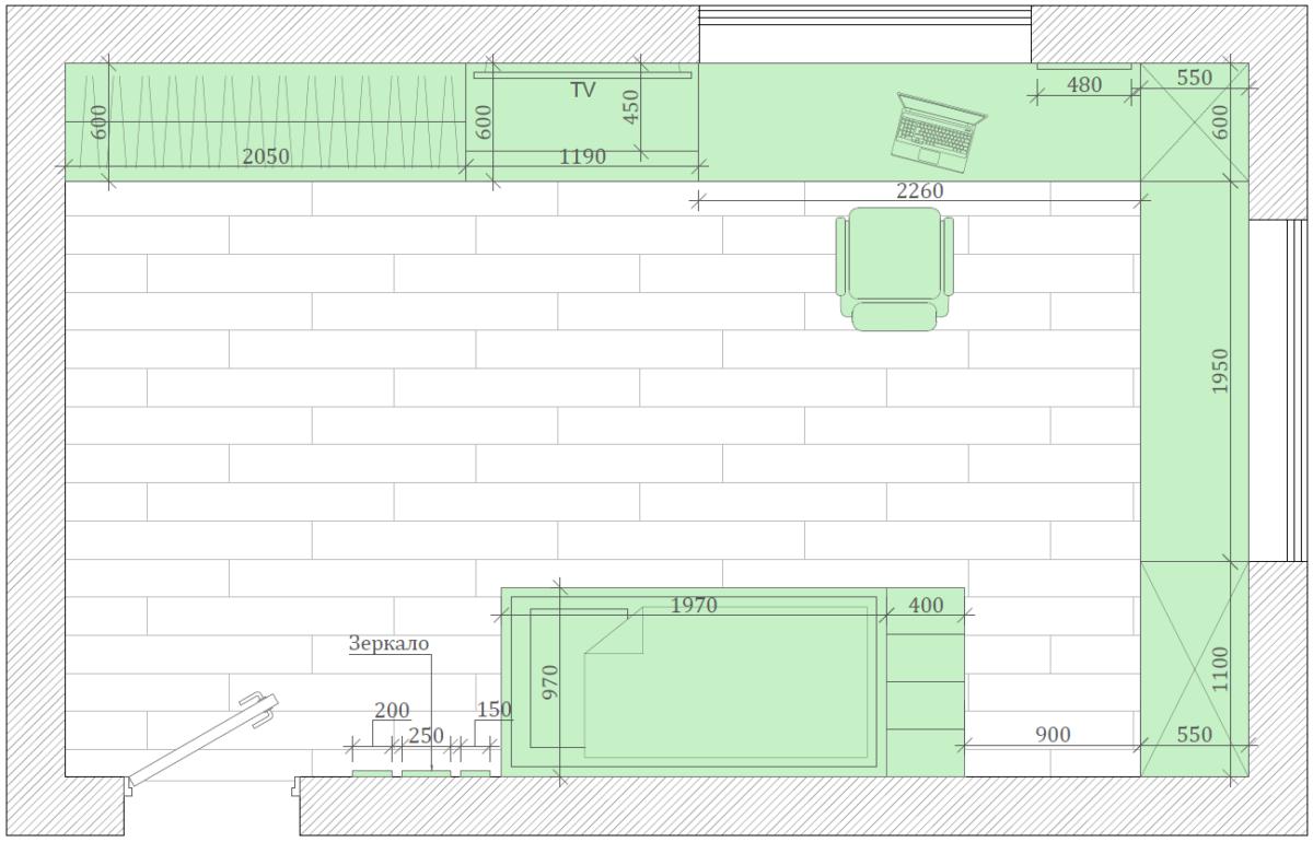 Мебель детской комнаты мальчика 3 лет проект 4051-6