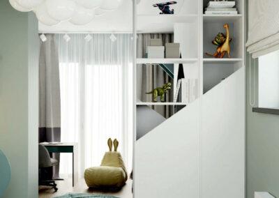 Стильная мебель в детскую комнату мальчика 5-9 лет — проект 4697-1