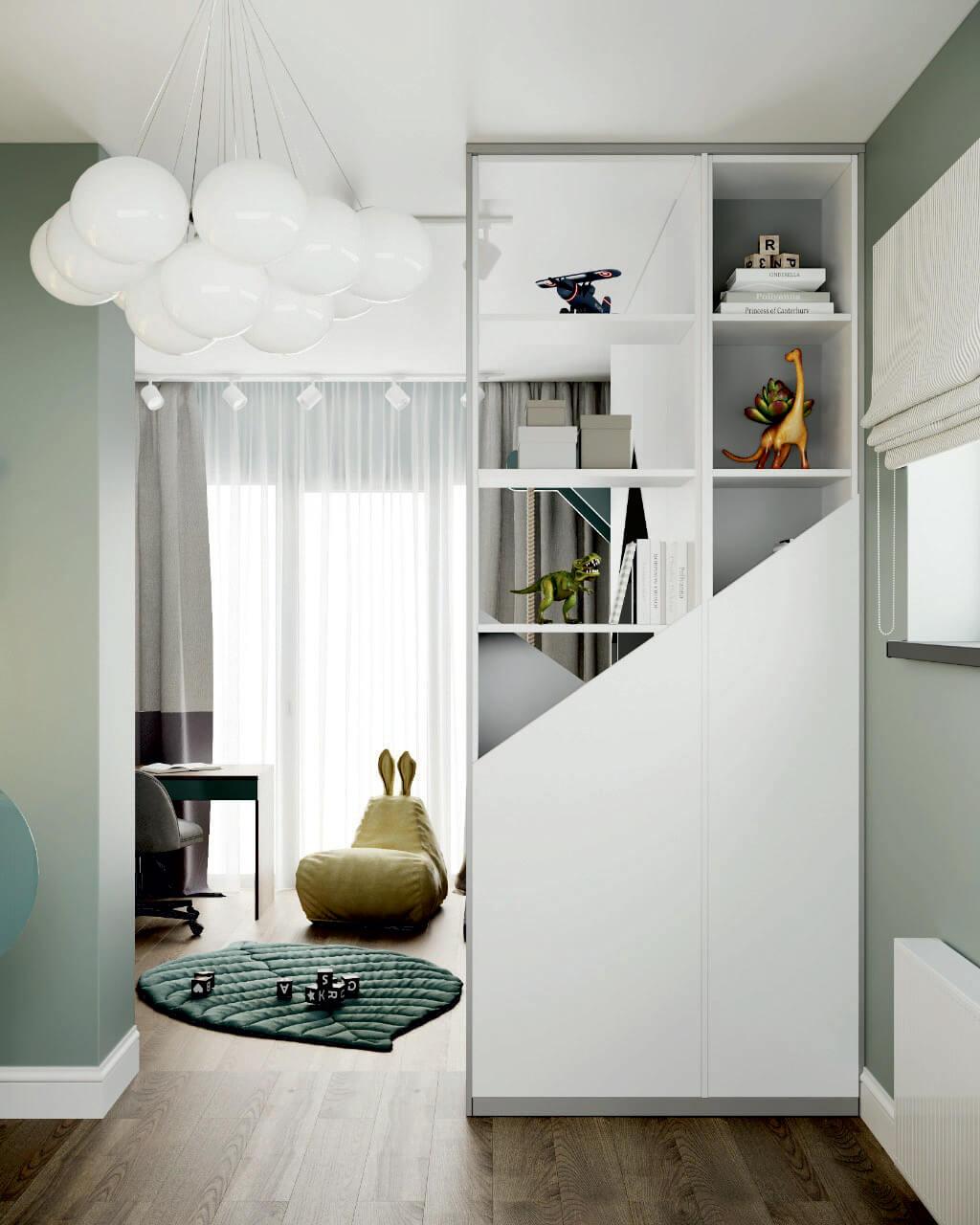 Мебель детской комнаты мальчика 5-9 лет проект 4697-1-3