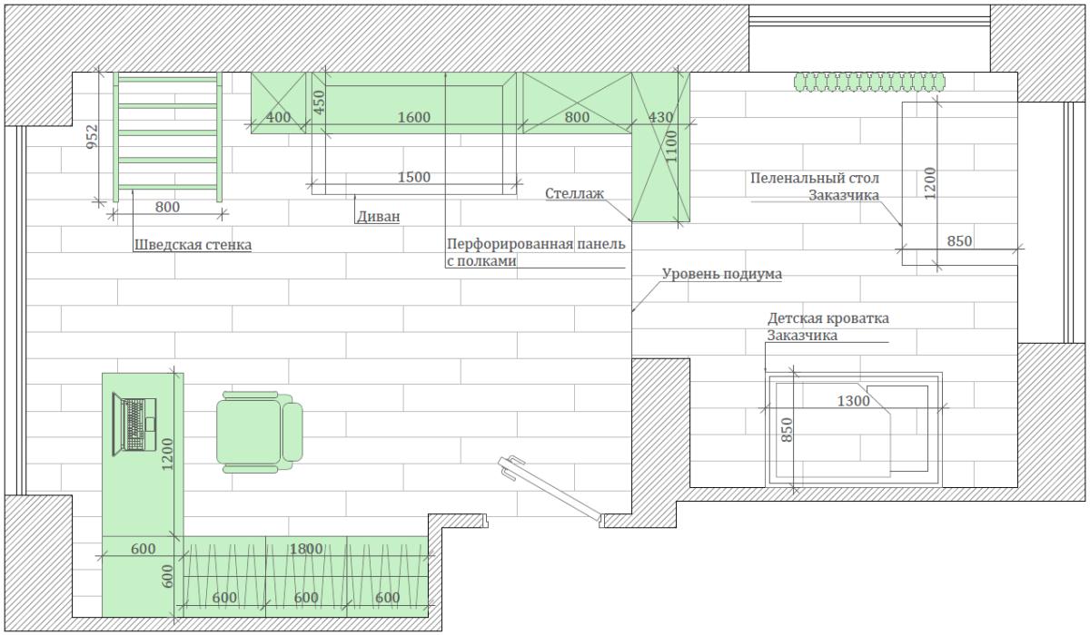 Мебель детской комнаты мальчика 5-9 лет проект 4697-1-6