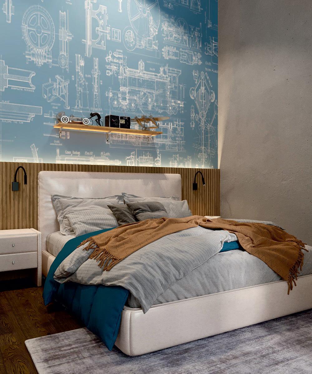 Мебель детской комнаты мальчика проект 5075-1
