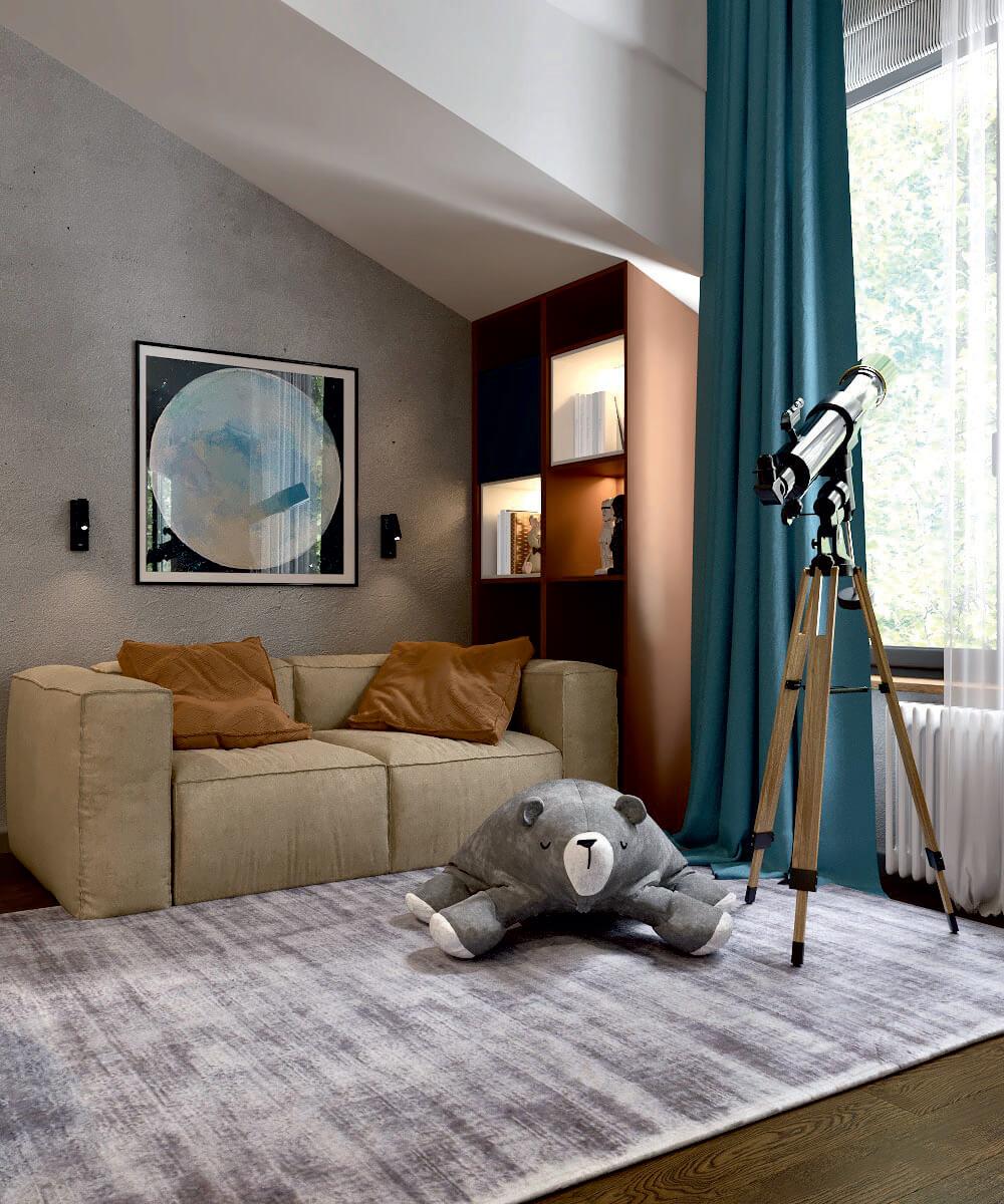 Мебель детской комнаты мальчика проект 5075-2