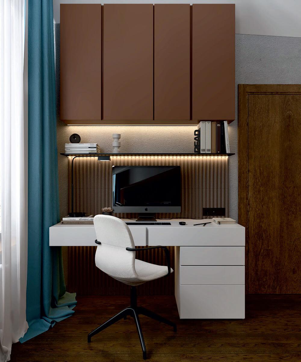 Мебель детской комнаты мальчика проект 5075-3