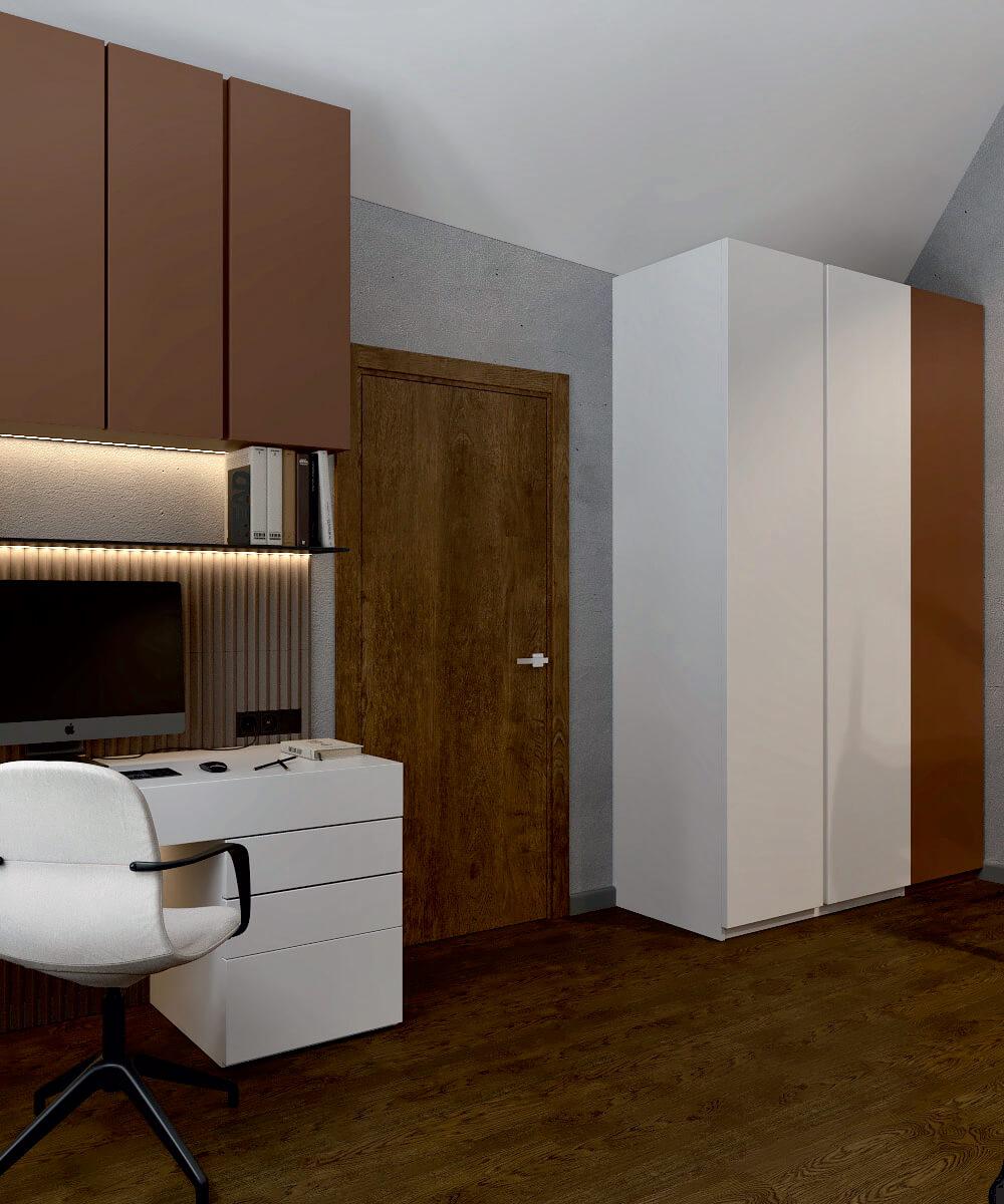 Мебель детской комнаты мальчика проект 5075-4
