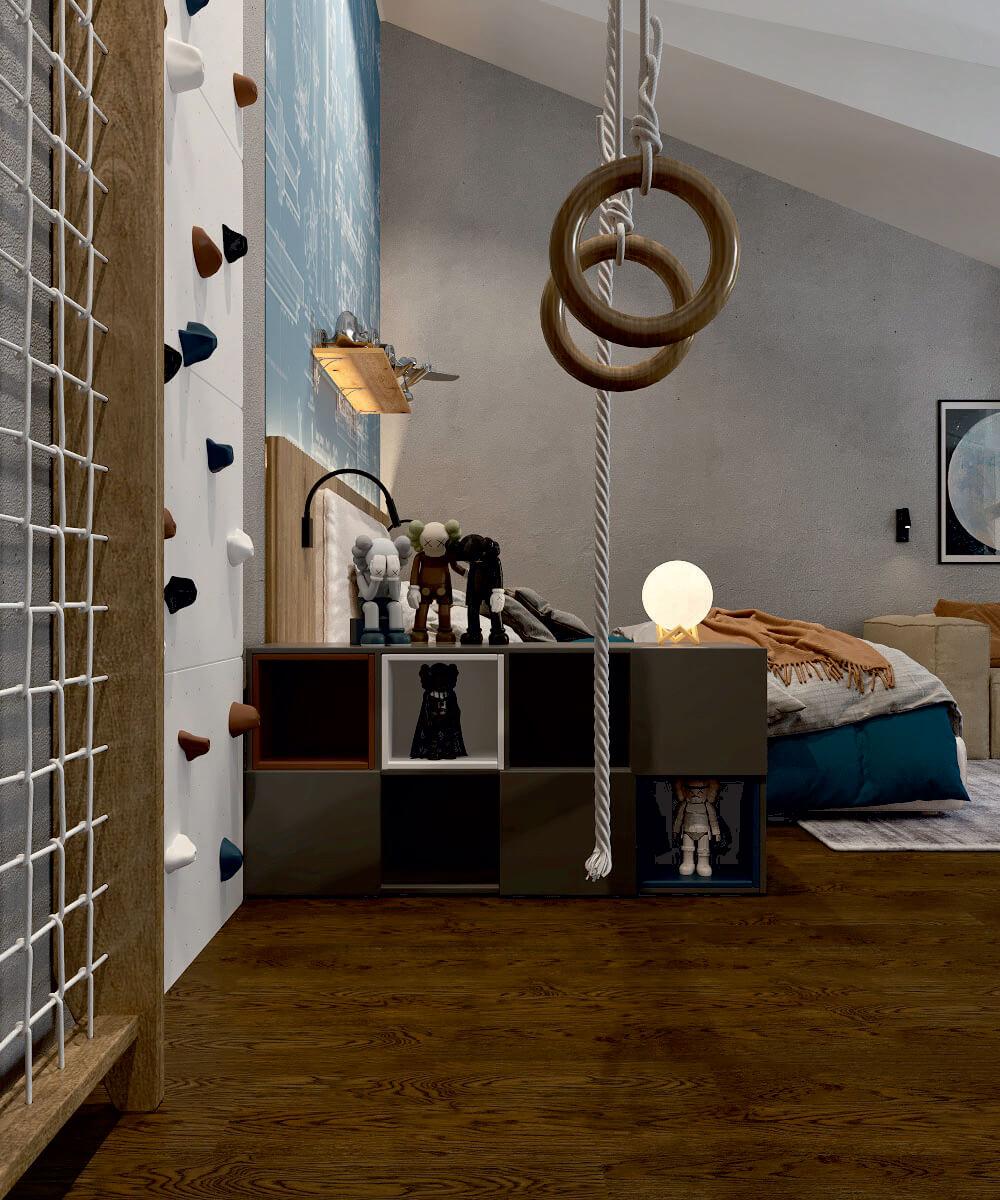 Мебель детской комнаты мальчика проект 5075-7