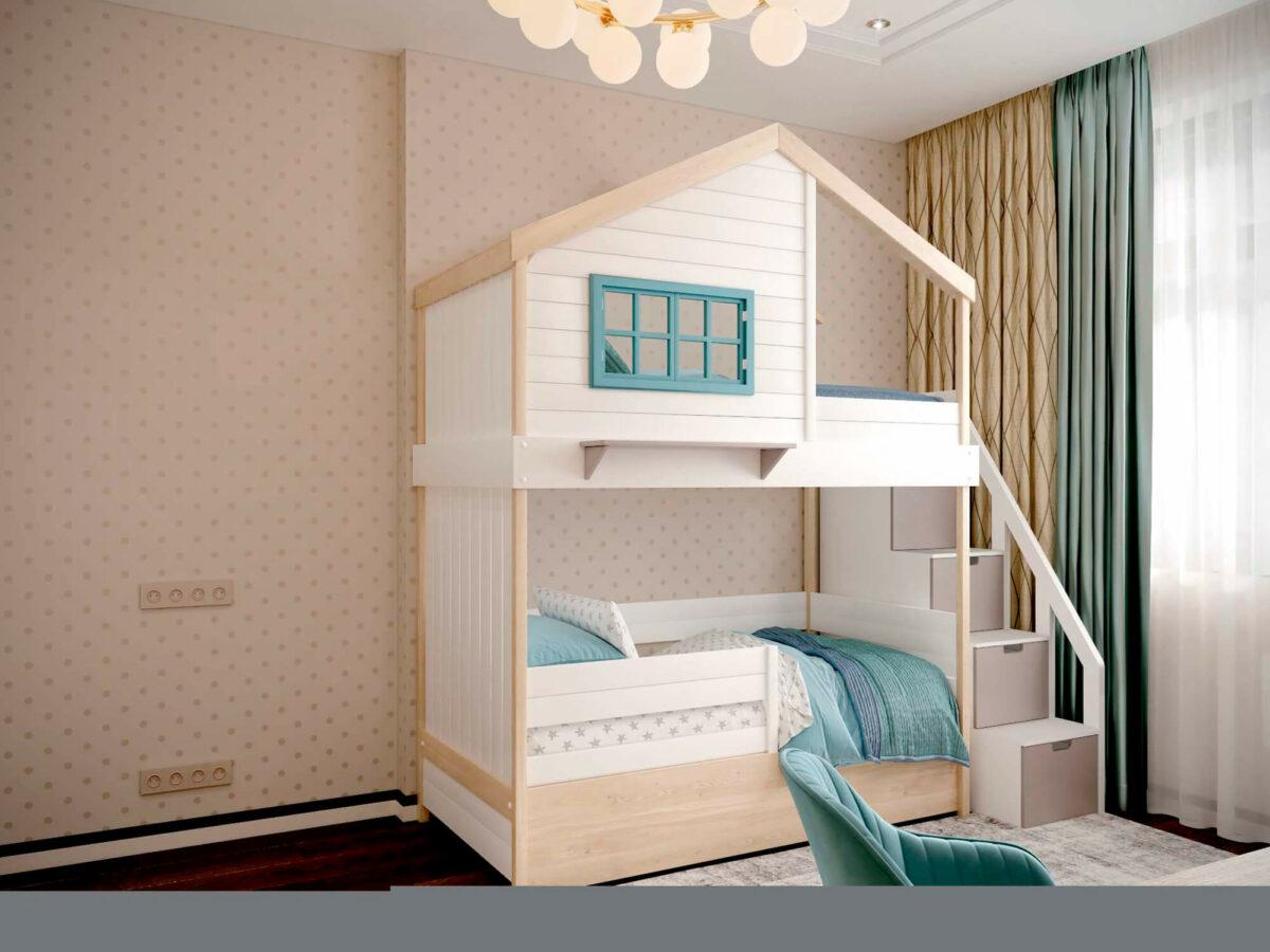 Мебель детской комнаты мальчика-школьника проект 3827-4