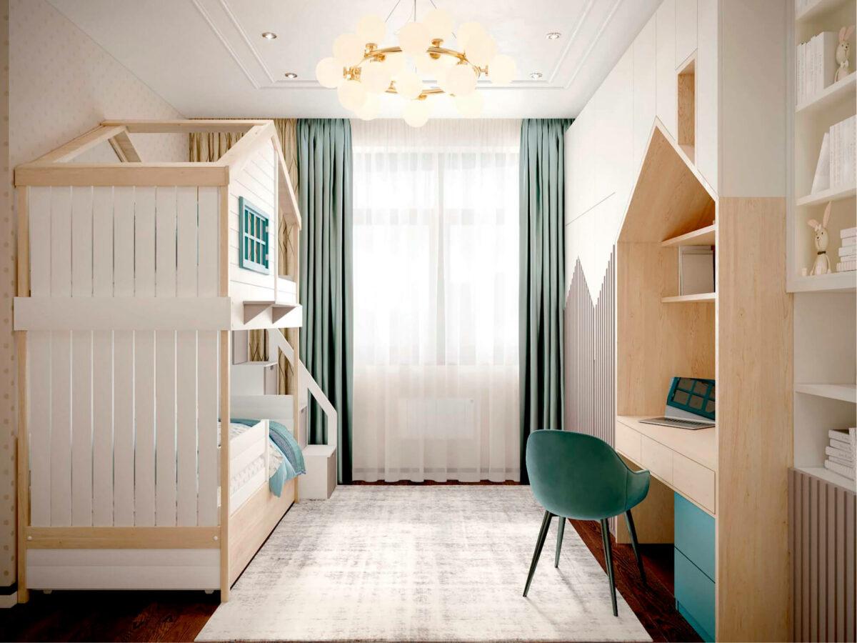 Мебель детской комнаты мальчика-школьника проект 3827-5