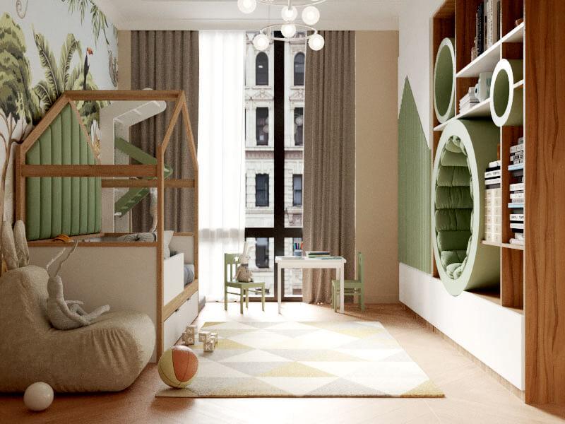 Мебель детской комнаты мальчика-школьника проект 4047-1