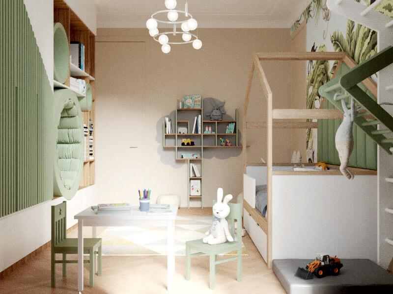 Мебель детской комнаты мальчика-школьника проект 4047-2