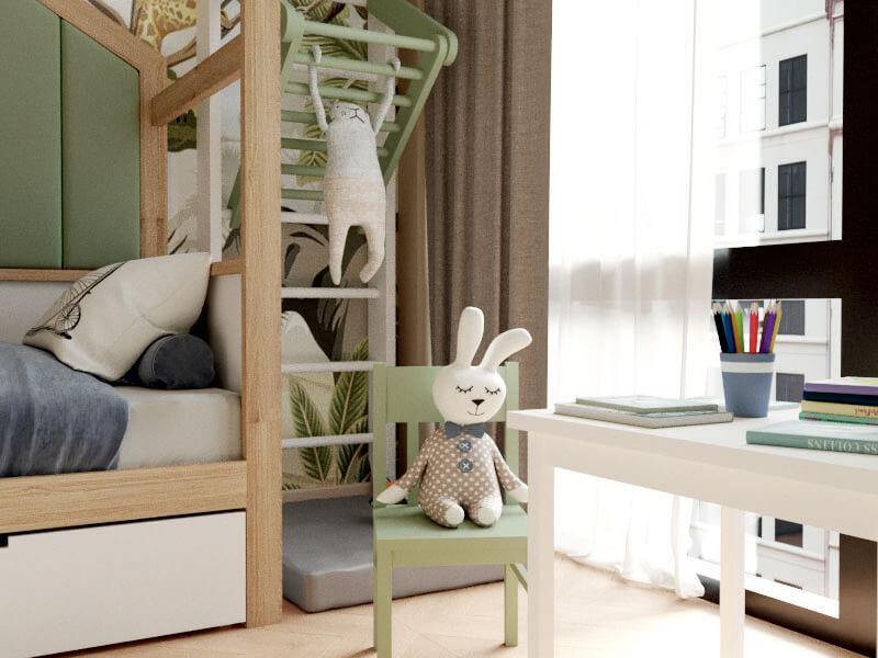Мебель детской комнаты мальчика-школьника проект 4047-5
