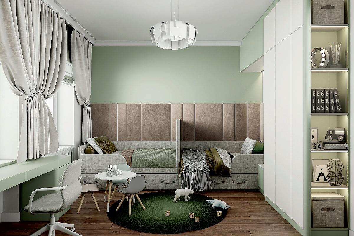Мебель детской комнаты мальчиков-дошкольников проект 4275-1