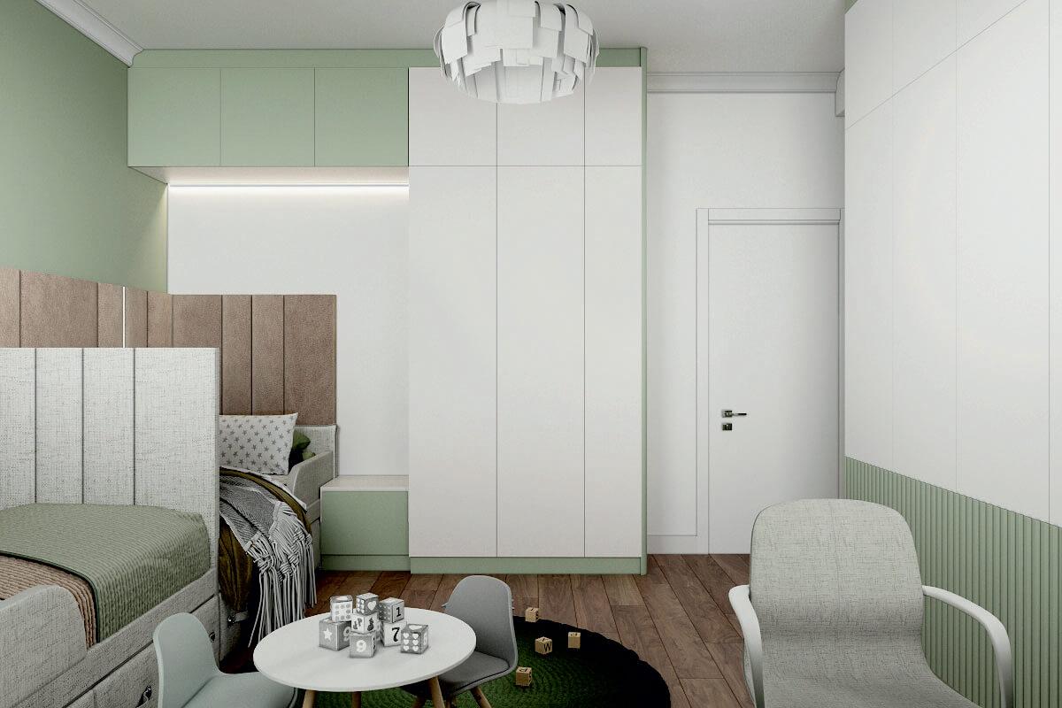 Мебель детской комнаты мальчиков-дошкольников проект 4275-2