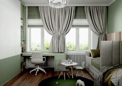 Мебель в детскую комнату двух мальчиков-дошкольников — проект 4275