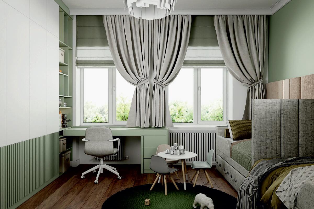 Мебель детской комнаты мальчиков-дошкольников проект 4275-3