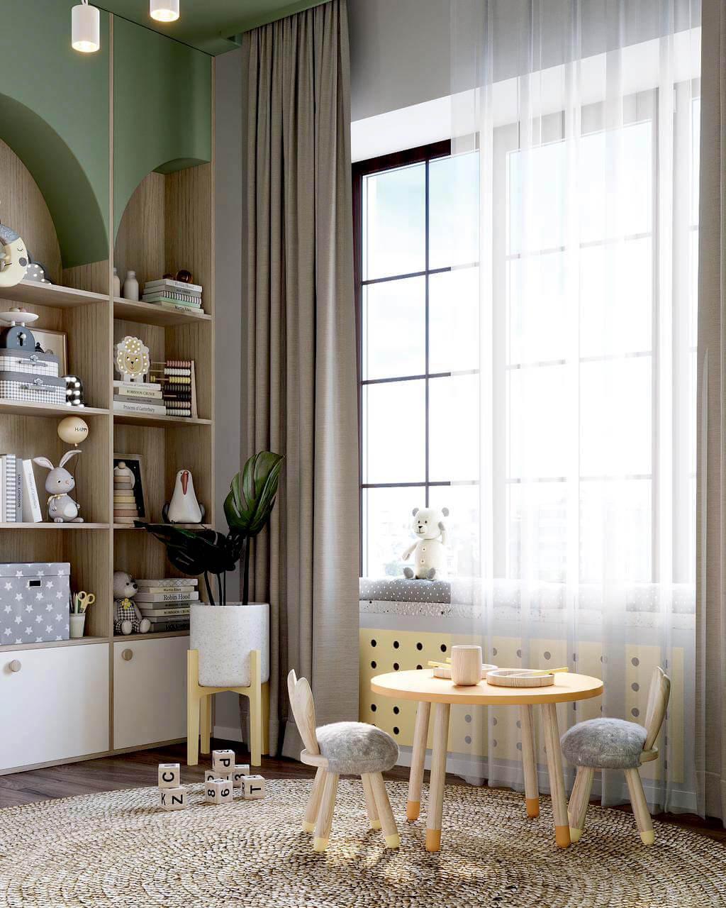 Мебель детской комнаты малышей проект 4049-2-1