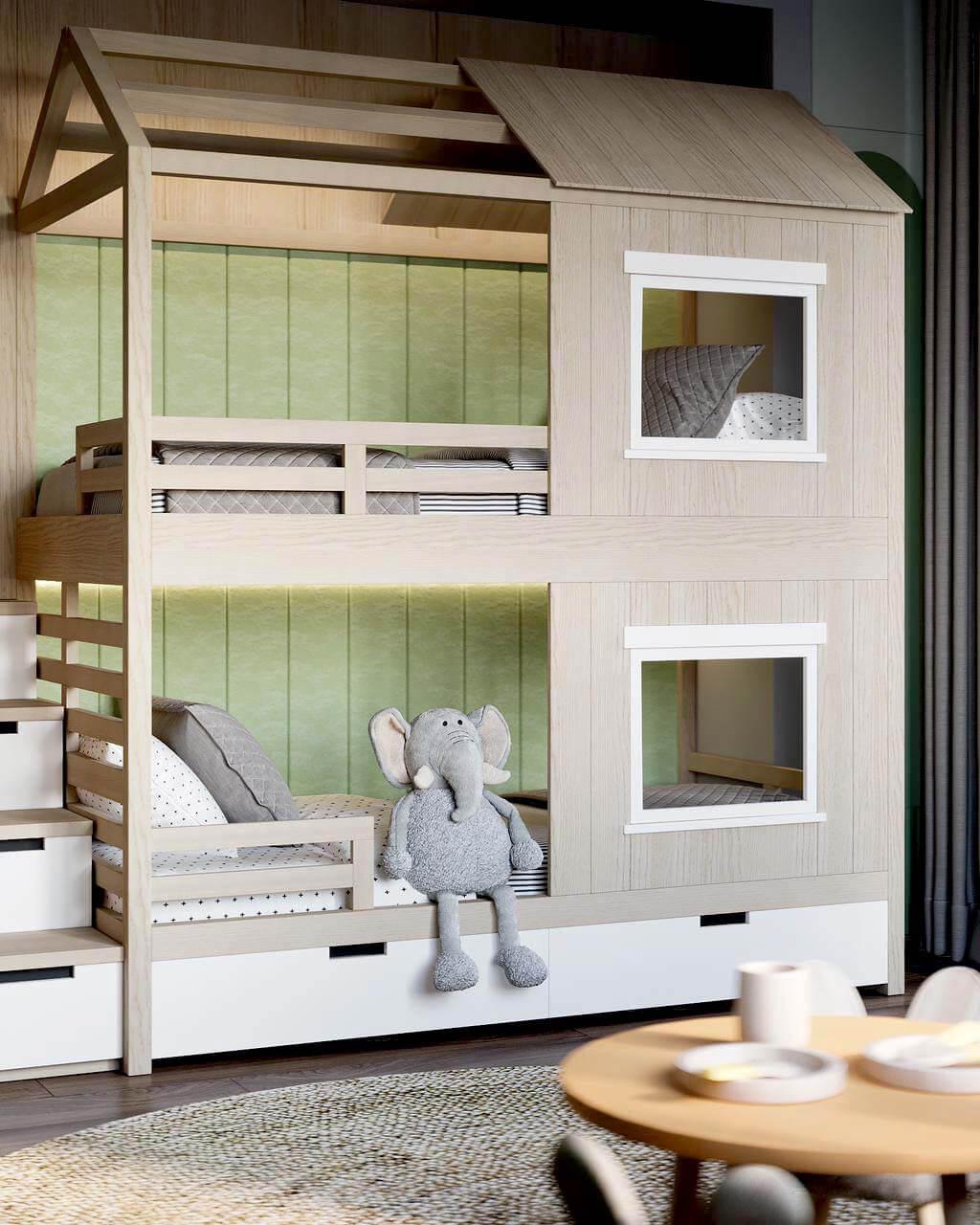 Мебель детской комнаты малышей проект 4049-2-2