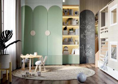 Мебель детской комнаты для малышей — проект 4049-2