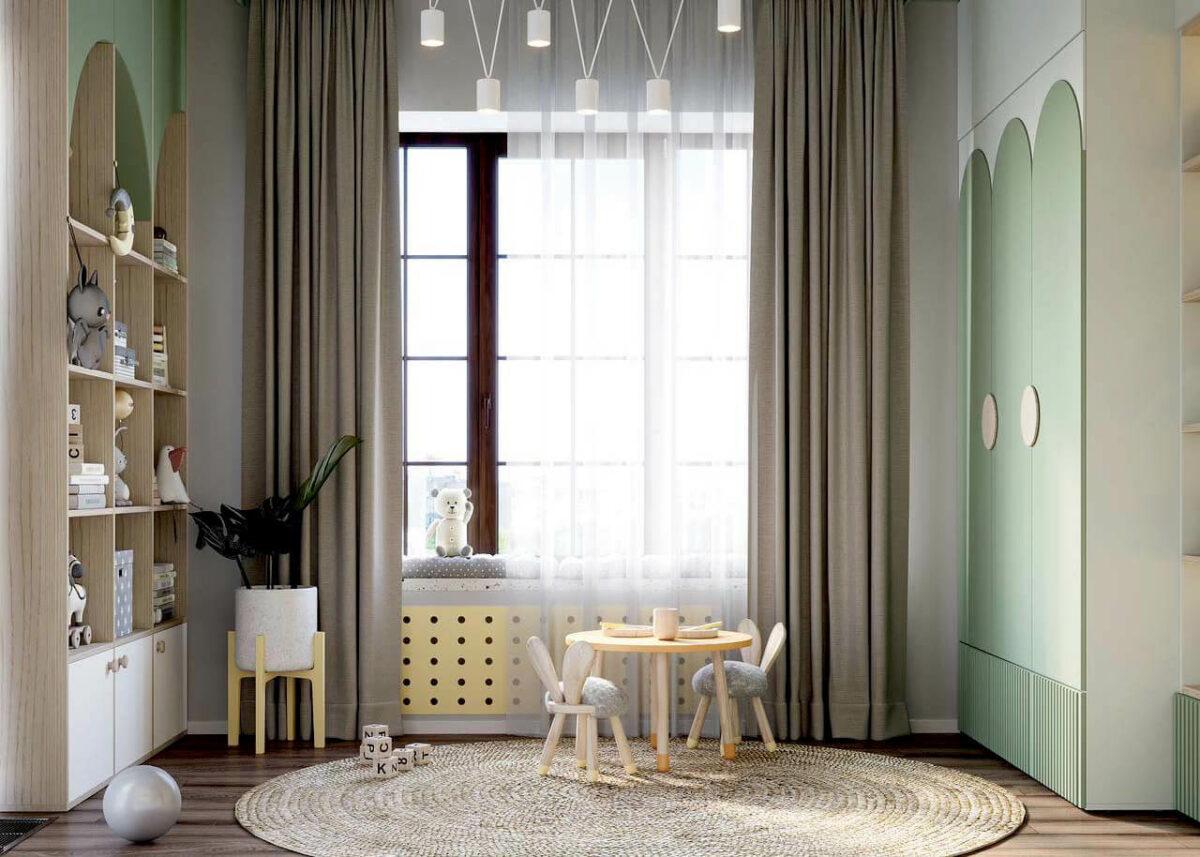 Мебель детской комнаты малышей проект 4049-2-6