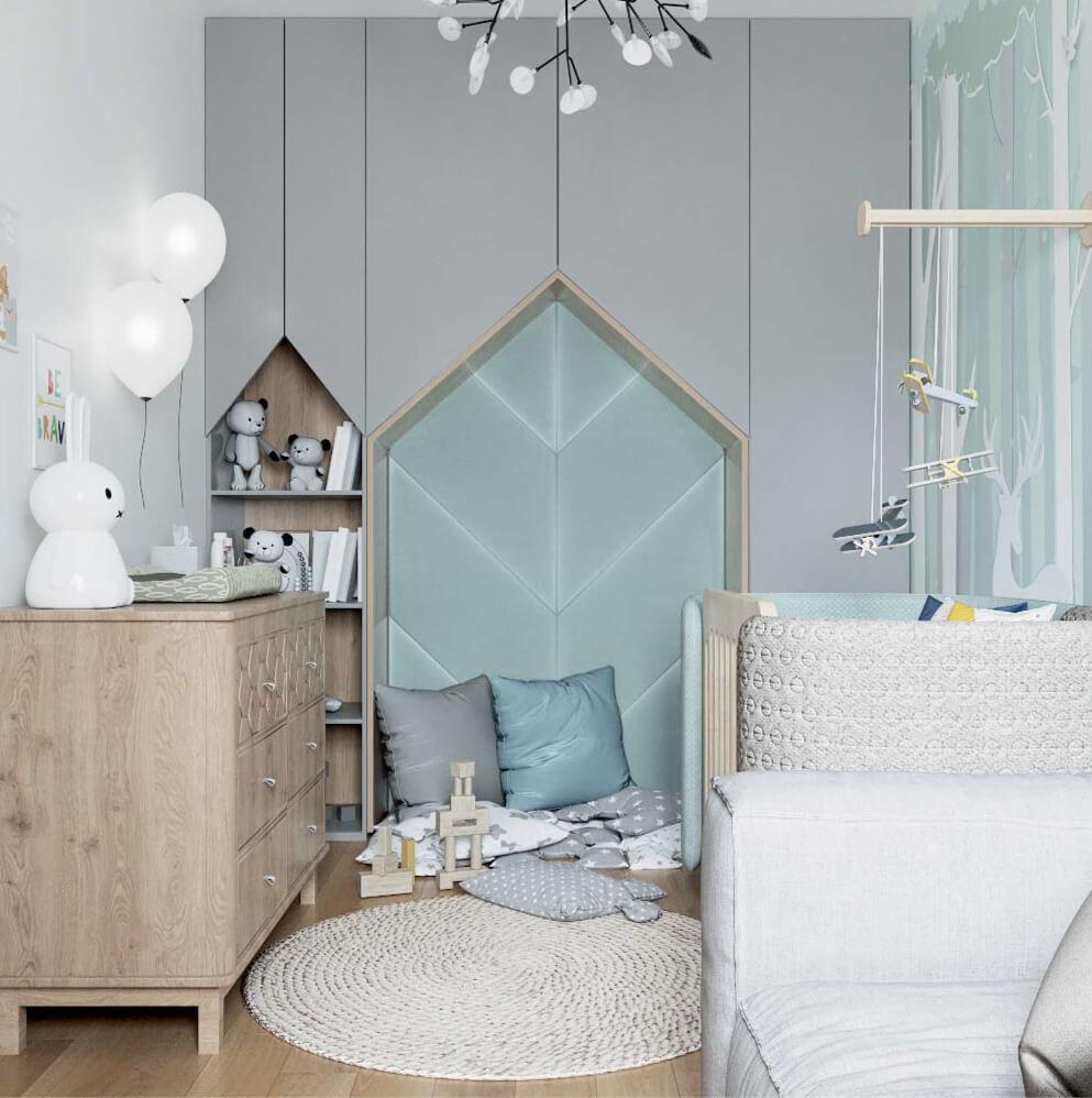 Мебель детской комнаты новорожденного проект 3089-1