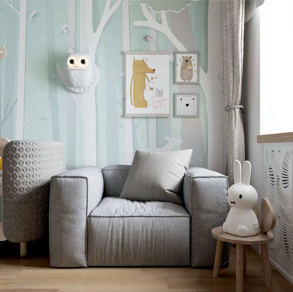 Мебель детской комнаты новорожденного проект 3089-2