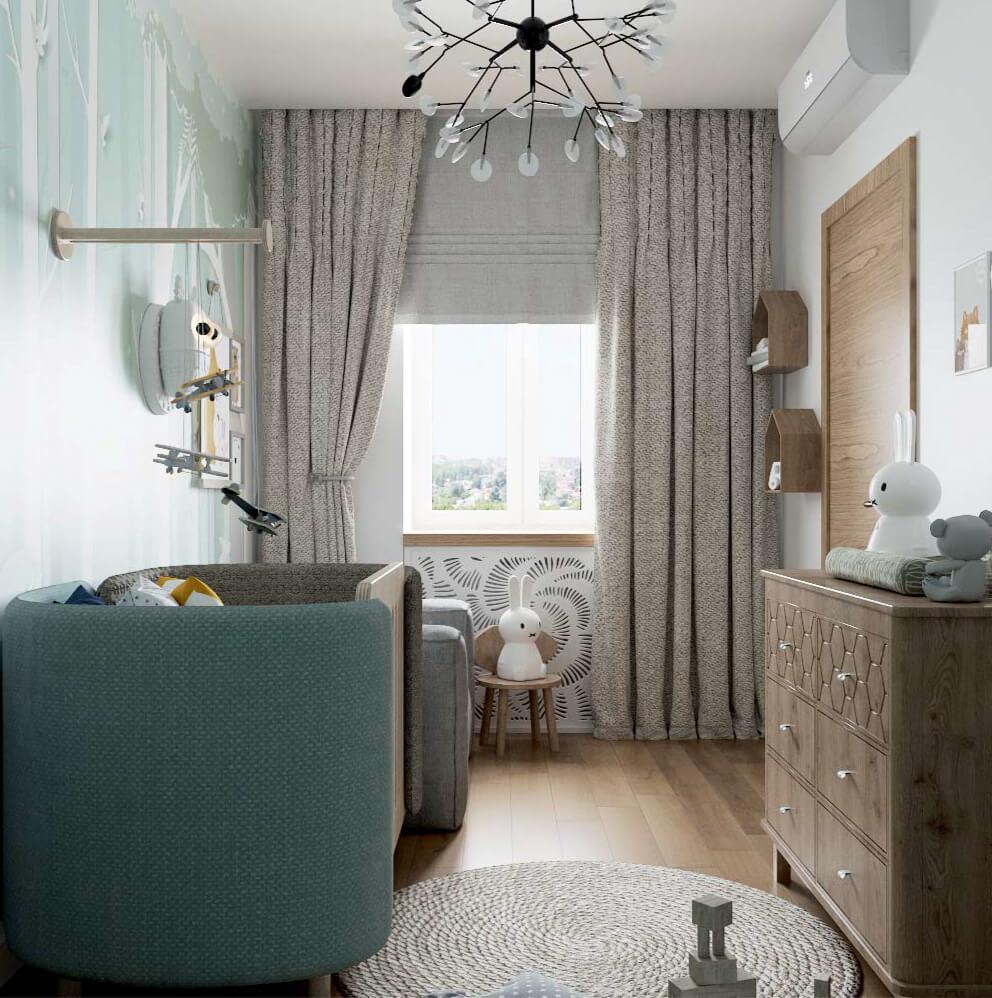 Мебель детской комнаты новорожденного проект 3089-3