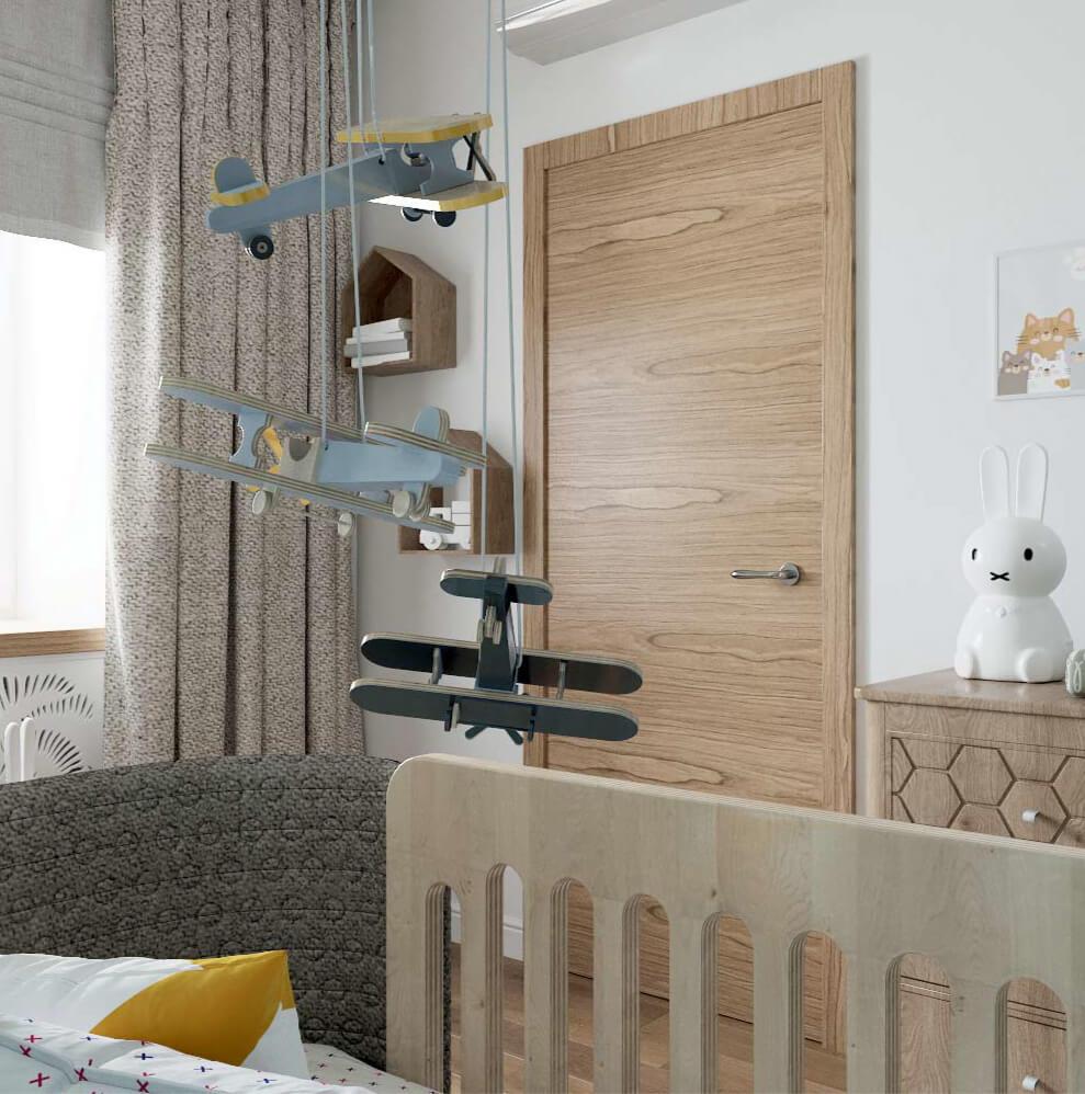 Мебель детской комнаты новорожденного проект 3089-4