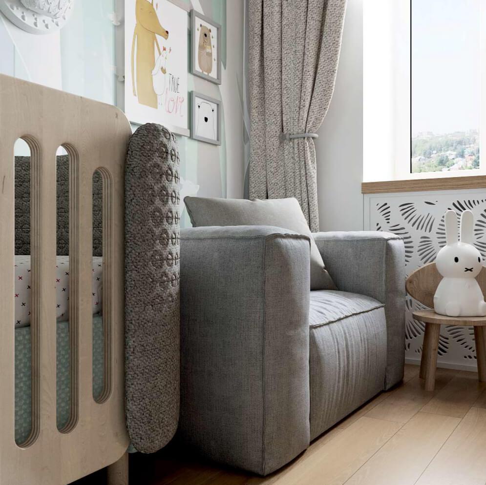 Мебель детской комнаты новорожденного проект 3089-5