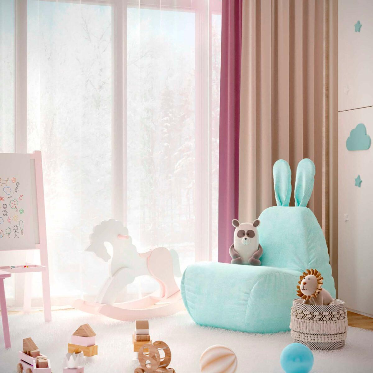 Мебель детской комнаты новорожденной девочки проект 4045-10