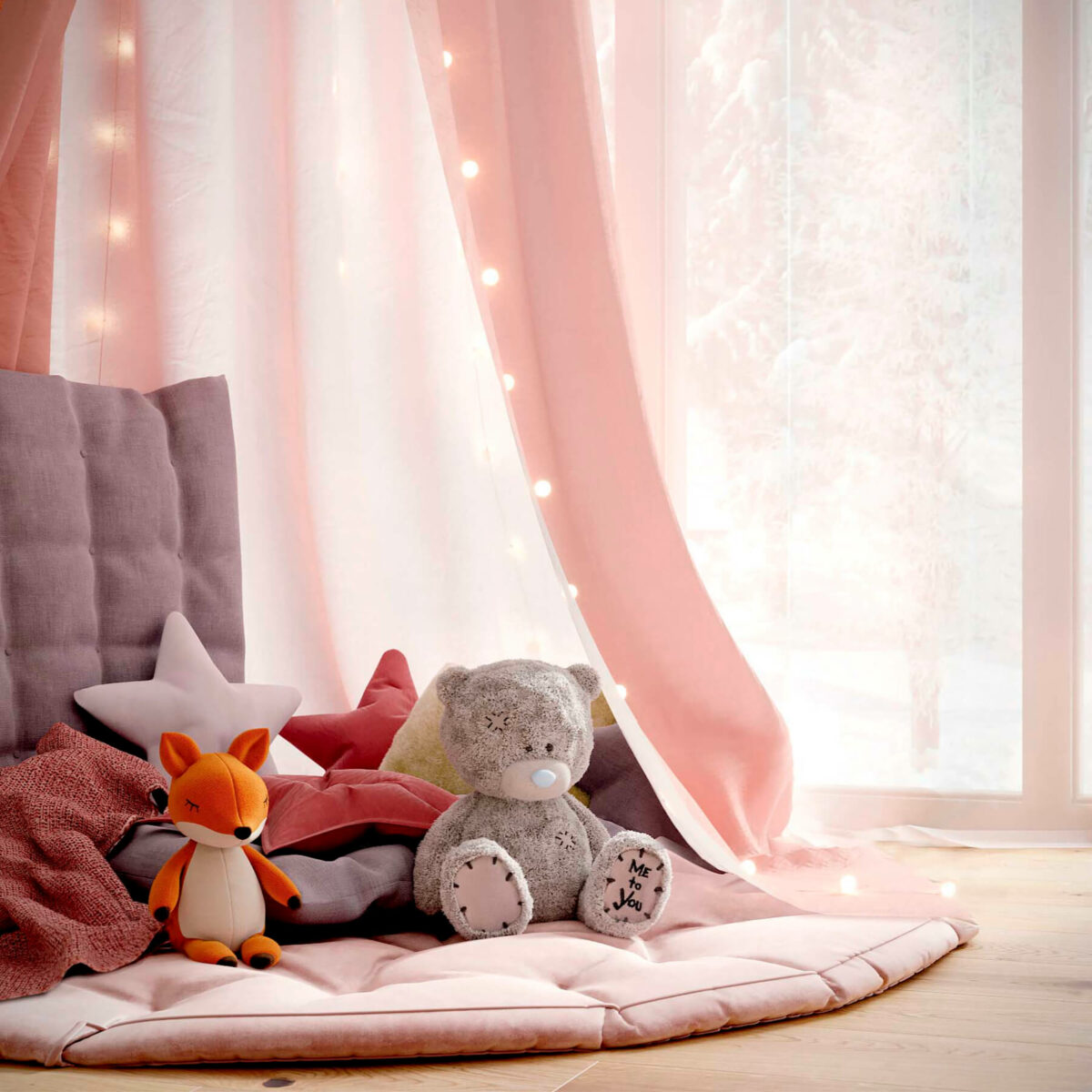 Мебель детской комнаты новорожденной девочки проект 4045-9