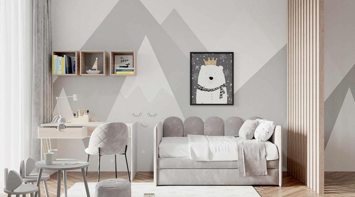 Мебель детской комнаты разнополых детей проект 3815-2