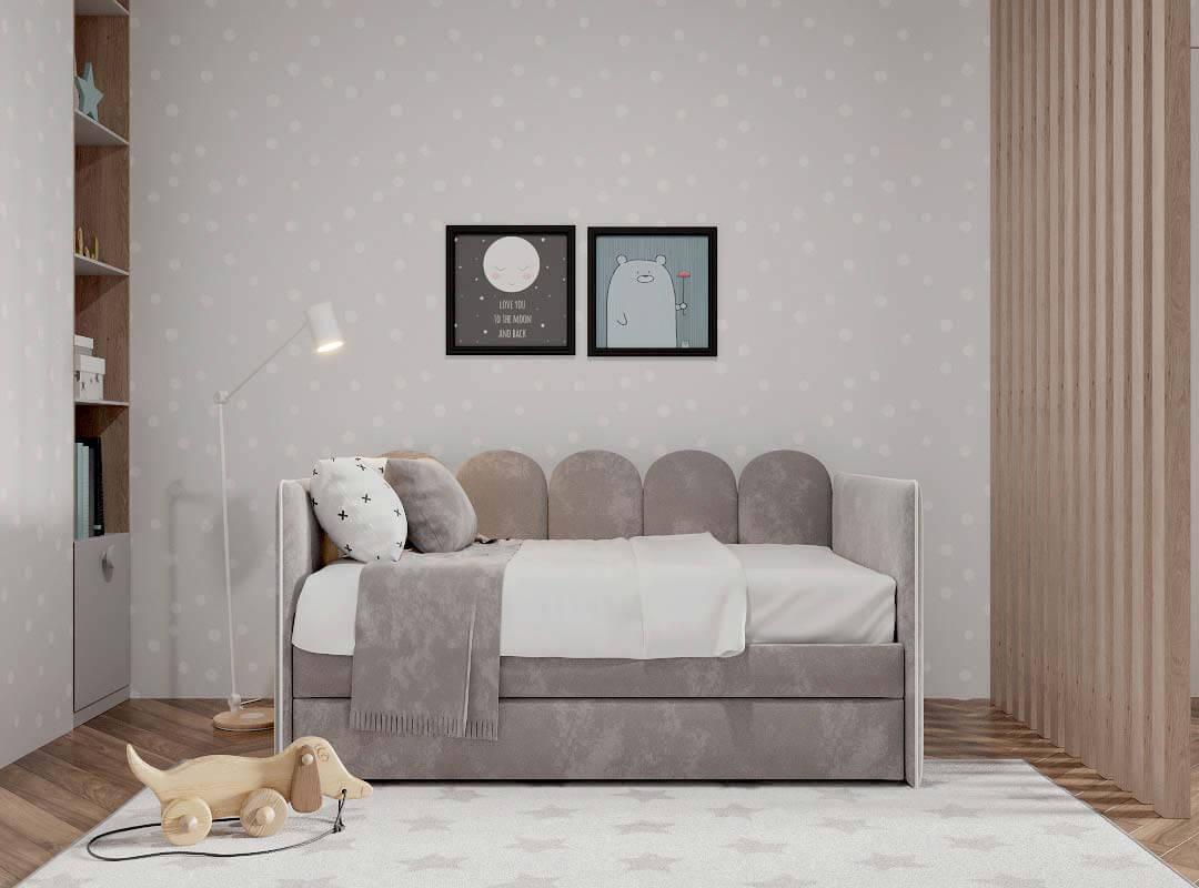 Мебель детской комнаты разнополых детей проект 3815-3