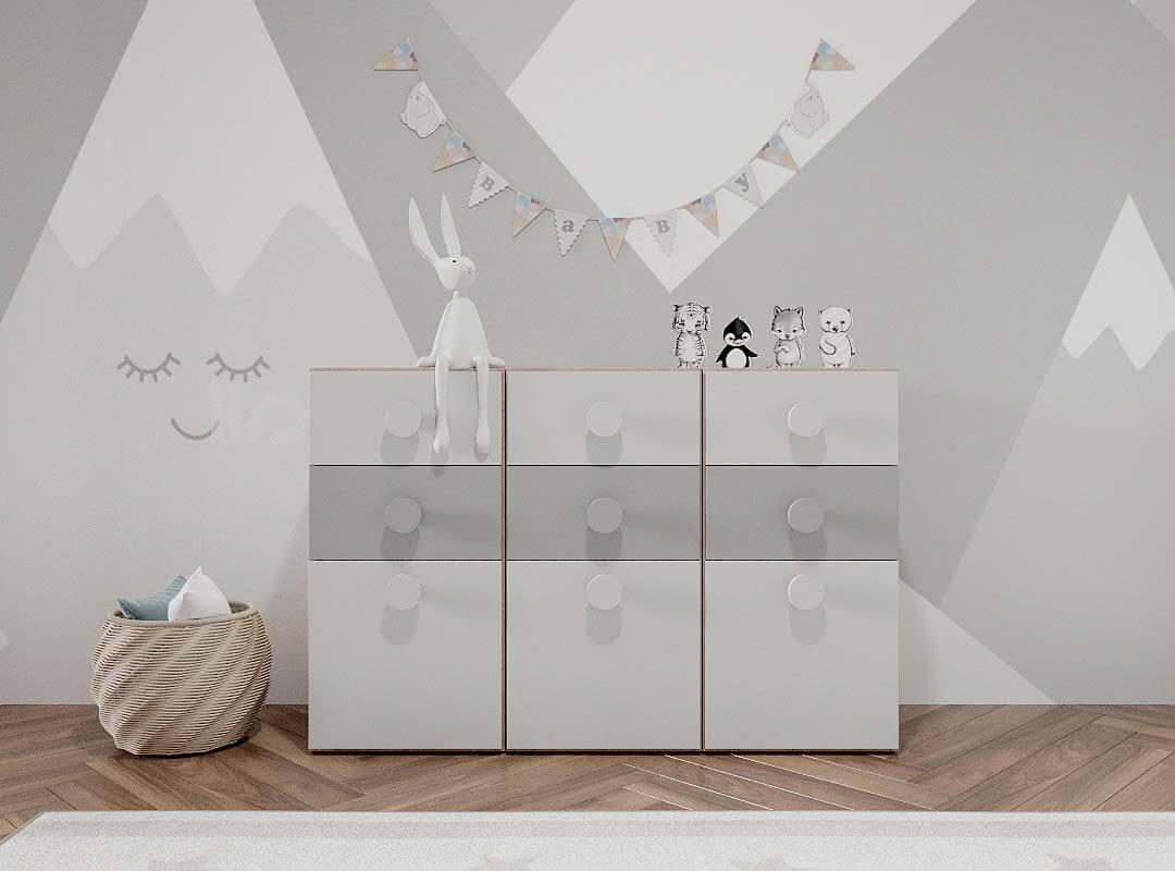 Мебель детской комнаты разнополых детей проект 3815-4