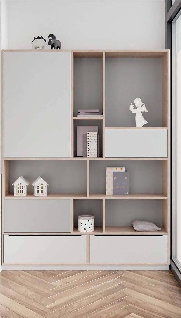Мебель детской комнаты разнополых детей проект 3815-5