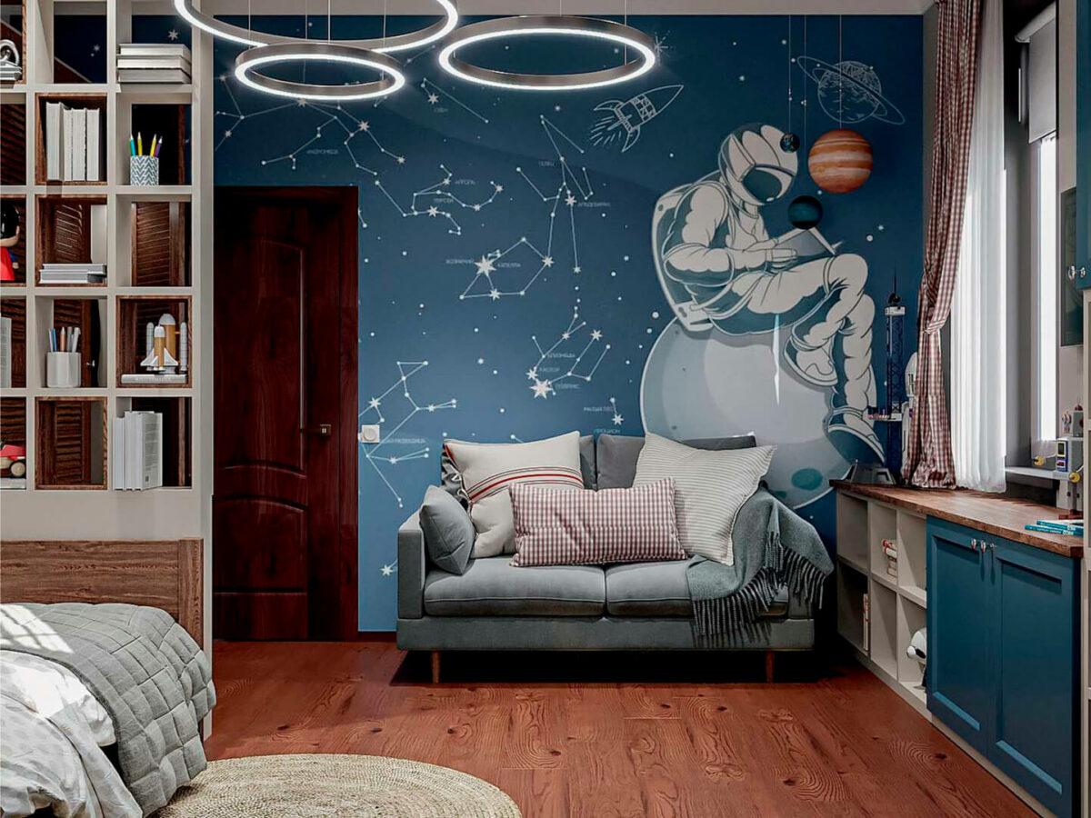 Мебель детской комнаты школьника-подростка проект 5475-2