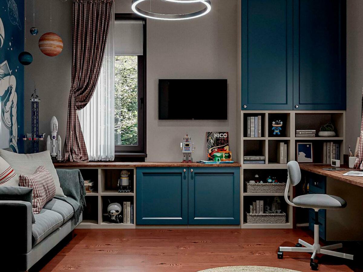 Мебель детской комнаты школьника-подростка проект 5475-3