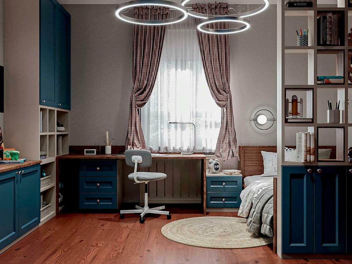 Мебель детской комнаты школьника-подростка проект 5475-4
