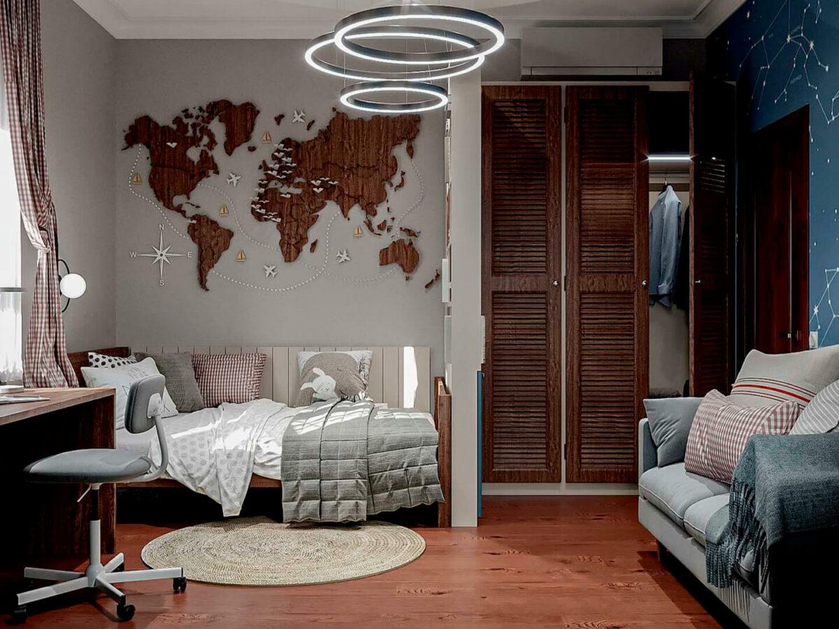 Мебель детской комнаты школьника-подростка проект 5475-5